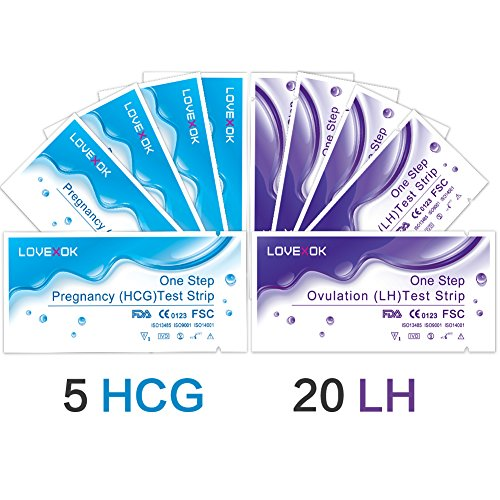 LOVEXOK 20 Ovulation  Test + 5 Pregnancy  Test Strip Combo P