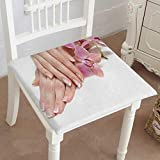 Mikihome Dining Chair Pad Cushion Hand with Perfect Nail French Manicure and Purple Orchid Flowers Fashions Indoor/Outdoor Bistro Chair Cushion 14''x14''x2pcs