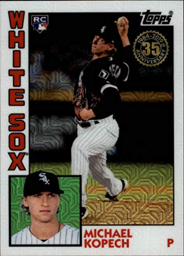 - 2019 Topps Series 2 Baseball Silver Wrapper Packs Chrome 1984 '84 Refractor #T84-18 Michael Kopech RC Rookie Chicago White Sox Official MLB Trading Card