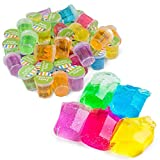 Kicko Mini Putty with Glitter - 48 Pack Assorted Neon Color Sludge - Educational Fidget Toy Ideal...