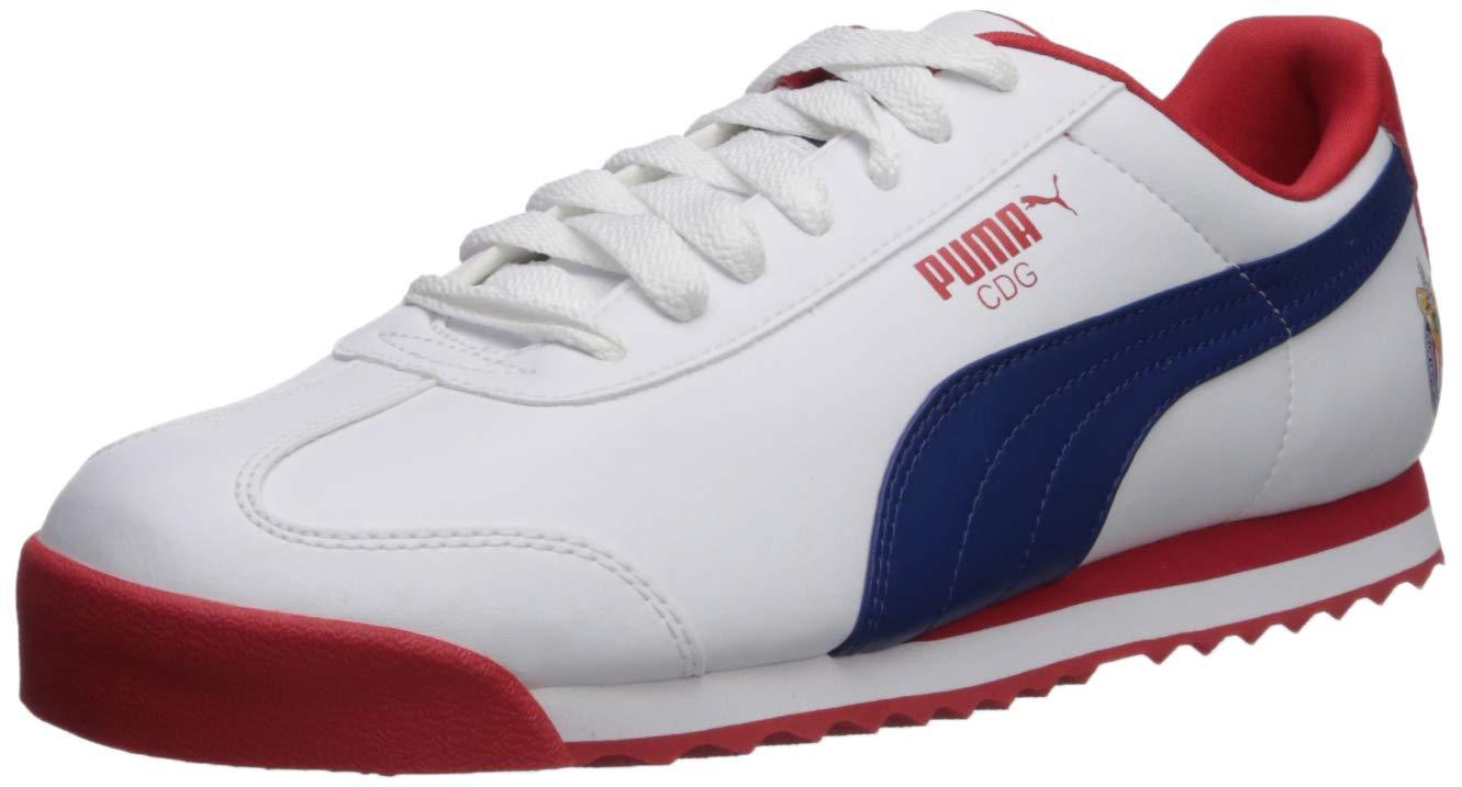 PUMA Men's Roma Basic Sneaker, White-Limoges-h, 14 M US
