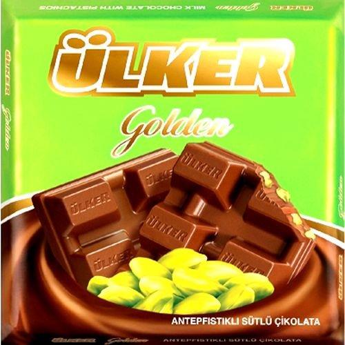 Ulker Chocolate Bar with Pistachio – 2.8oz (Bar Pistachio)