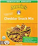 Annie's Organic Cheddar Snack Mix, Baked Cheese Crackers and Pretzels, 9 oz Box (Pack of 4) offers