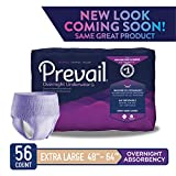 Prevail Overnight Absorbency Incontinence Underwear for Women, Extra Large, 14 Count