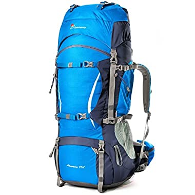 Mountaintop 5805II Internal Frame  Waterproof Hiking Backpack, Blue