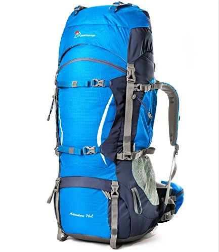Mountaintop 70L+10L Internal Frame Backpack with Rain Cover YKK Buckle 5805