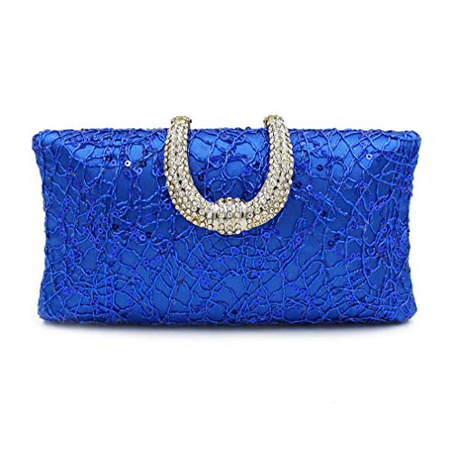 Female Gold Women Purse Clutch Clutches Ladies ULKpiaoliang Blue Day Bag Party Bags Evening x6qfdzFw8