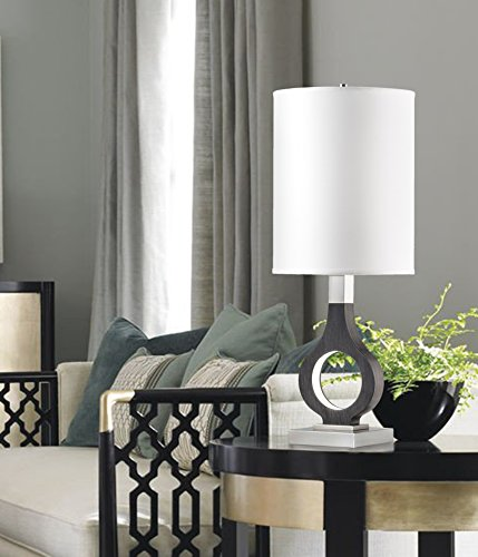 NOVA of California 1011396CG Keyhole Series Table Lamp, Charcoal (Accent Table Lamp Nova Lighting)