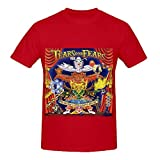Tears For Fears Everybody Loves A Happy Ending Tracks Mens Crew Neck Cotton Tee Shirts Red