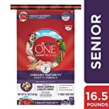 Purina ONE Senior Dry Dog Food, SmartBlend Vibrant...