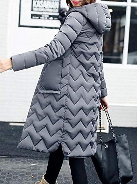 Cappotto Donna Imbottito Bottoni Da Trapuntato Mouten Abbottonare Cappuccio Invernali Con UAxUqgFwO