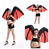Wecloth Inflatable Suit Novelty Devil Bat Vampire Wings Halloween Costume Party Dress