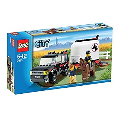 LEGO City 7635: 4WD with Horse Trailer: Toys & Games