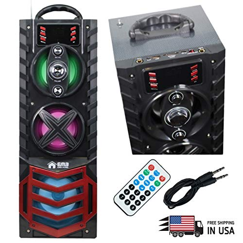 EMB EURO29 200 Watts Portable Boombox HiFi Stereo Speaker with Light/Remote / Rechargeable Speaker