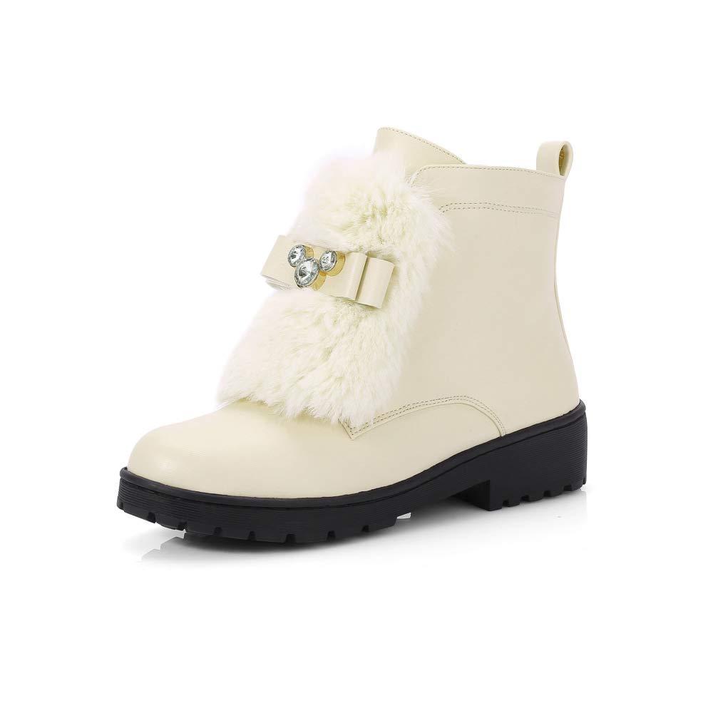 XQY Damenschuhe - Dicker Sohlen Baumwolle Baumwolle Baumwolle Schuhe Student Stiefel Ry Damen Stiefel Einzelne Stiefel Niedrigen Ferse Große Größe Damenschuhe 34-43 cf8967