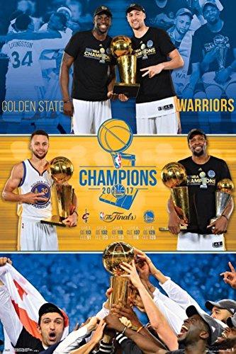Trends International Collector's Edition Wall Poster 2017 Nba Finals Celebration Golden State Warriors