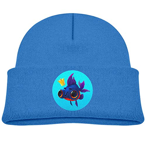 Cute Fish Kids Baby Toddler Cable Knit Children's Blue Winter Hat