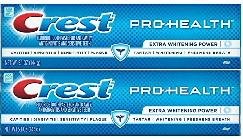 Crest Pro Health Extra Whitening Toothpaste Fresh Clean Mint 5.1 oz(144g) – Pack of 2
