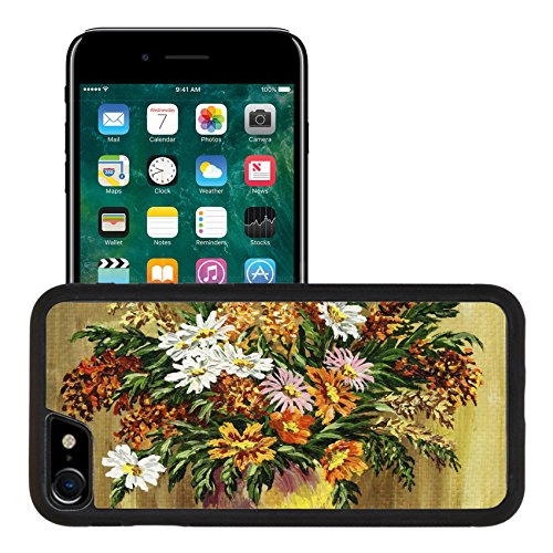 (Liili Apple iPhone 7 iPhone 8 Aluminum Backplate Bumper Snap iphone7/8 Case Picture oil paints on a canvas bouquet of wild flowers in a clay pot Photo 7080713)
