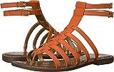 Sam Edelman Women's Gilda Flat Sandal, Tangelo, 7.5 M US