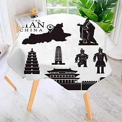 prunus Mantel Circular de poliéster Macizo Vietnam Tradicional ...