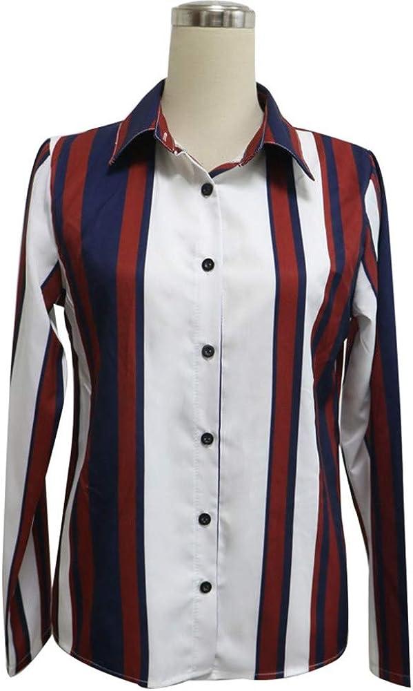 LEvifun Donna Camicetta Blusa Elegante Collo a V Maniche Lunghe T-Shirt Crop Top Ragazza Moda Maglia Maglione Pullover Elegante Camicetta Magliette Donne Maglietta Donna Tops S-5XL