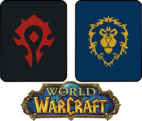 JPI Officially Licensed Blankets and Throws Twin and Queen Size Luxury Plush Medium Weight Bedding Blanket World of Warcraft Wow Horde Alliance Blizzard Legion Games armony Mink All Season Soft
