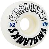 """【SM BLANKS】スケートボード ウィール 52mm×30mm STD(99A) """"HIGH GRADE"""" 白 軽量208g"""