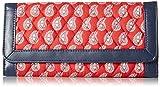 Vera Bradley Trifold 4 Wallet, Petite Red Bandana Paisley/Navy, One Size