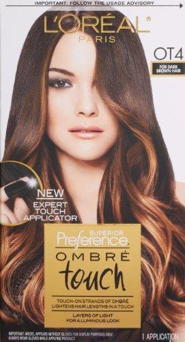 L'Oréal Paris Superior Preference Ombre tactile couleur de cheveux, OT4 Pour Marron Foncé