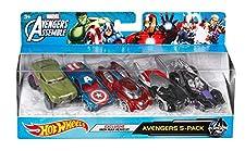Hot Wheels Marvel Avengers Die-Cast Vehicle, 5-Pack (Amazon Exclusive)