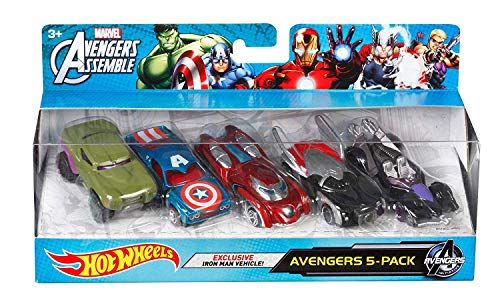 (Hot Wheels Marvel Avengers Die-Cast Vehicle, 5-Pack (Amazon Exclusive) )
