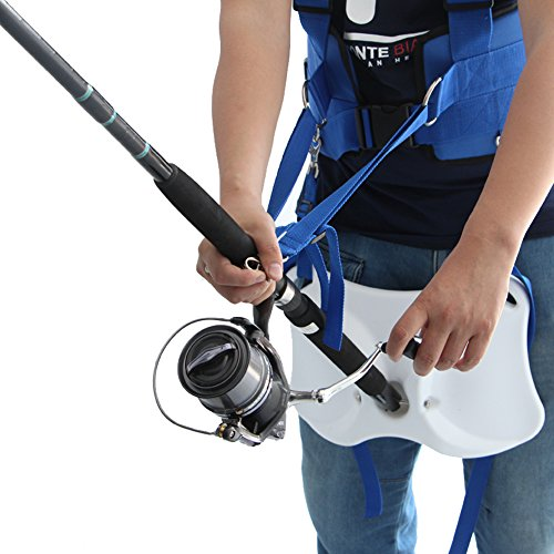 Pellor Offshore Stand Up Fishing Fighting Belt Shoulder Back Harness Complete Package