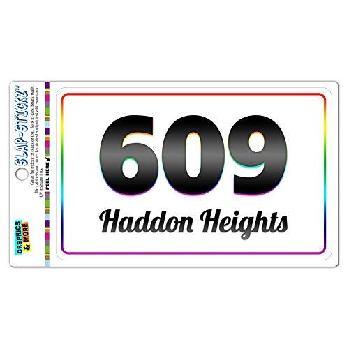 Area Code Rainbow Window Sticker 609 New Jersey NJ Absecon - Medford Lakes - Haddon Heights
