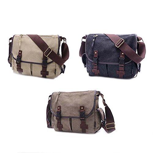 Women Bags Sports Travel Messenger Vintage Canvas Shoulder Bag Bag Military Casual Crossbody Men Bags Army Hrph Black qnRzCIwq6