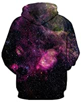 GLUDEAR Unisex Realistic 3D Digital Print Pullover Hoodie Hooded Sweatshirt,Purple,L/XL