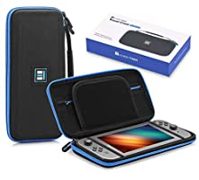 CHEERSON Carrying Case Compatible with Nintendo Switch Protective Travel Hard Switch Case with 8 Game Cartridges Slots Holder