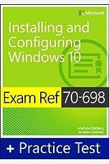 Exam Ref 70-698 Installing and Configuring Windows 10 with Practice Test Capa comum
