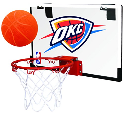 Rawlings NBA Oklahoma City Thunder 00665053111NBA Game On Polycarbonate Hoop Set (All Team Options), Blue, Youth ()
