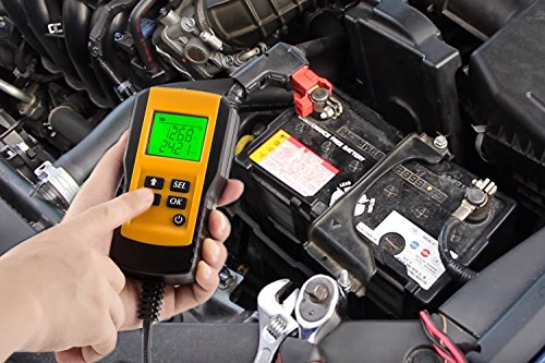 Car Battery Load Tester Digital 12V Car Battery Tester Automotive Battery Load Tester and Analyzer Of Battery Life Percentage,Voltage, Resistance and CCA Value For Gel, AGM, Flood, Deep Cycle Check by Enbar (Image #3)