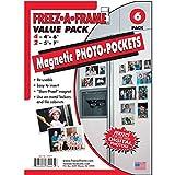 "Clear Magnetic Photo Frame Pockets, Freez-A-Frame for Refrigerator, 4 frames (4""x 6"") & 2 frames (5""x 7"")"