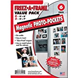 Freez-A-Frame Magnetic Combo Pack with 4 – 4″ x 6″ & 2 – 5″ x 7″ Magnetic Photo Frames