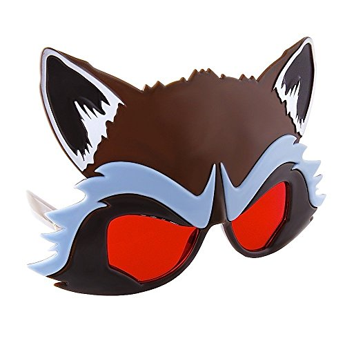 Costume Sunglasses Guardians of the Galaxy Rocket Raccoon Sun-Staches Party Favors (Raccoon Adult Costumes)