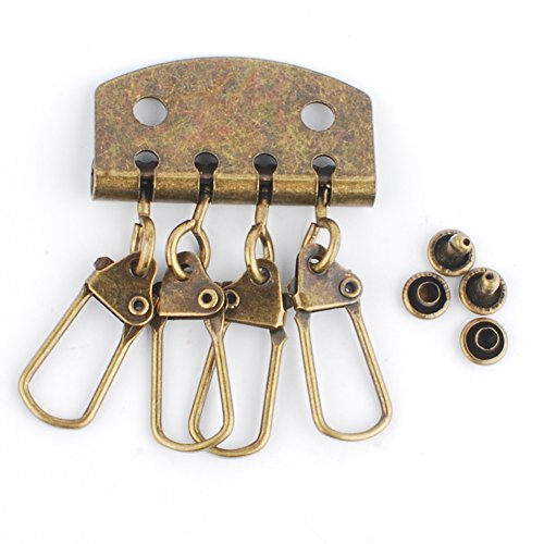 NW 5Pcs Iron 4 Clasps Key Row Key Case Hardware for DIY (Bronze, ()