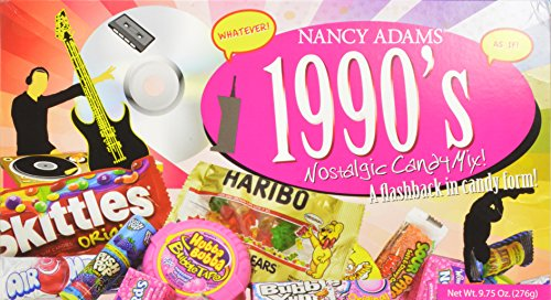 - 1990s Nancy Adams Nostalgic Candy Mix Gift Box 9.75 Oz. Gift Basket Classic 90's Candy