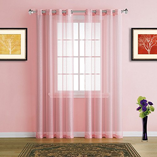 72 inch curtain panel pink - 1