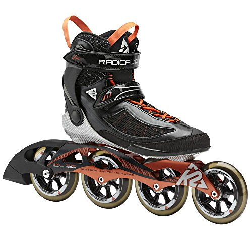 K2 Skate Radical 100 Racing Inline Skates, Black/Copper, 8.5