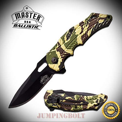Spring Assisted Folding Pocket Sharp Knife EDC MU-A020MC - Premium Quality Hunting Very Sharp EMT EDC ()