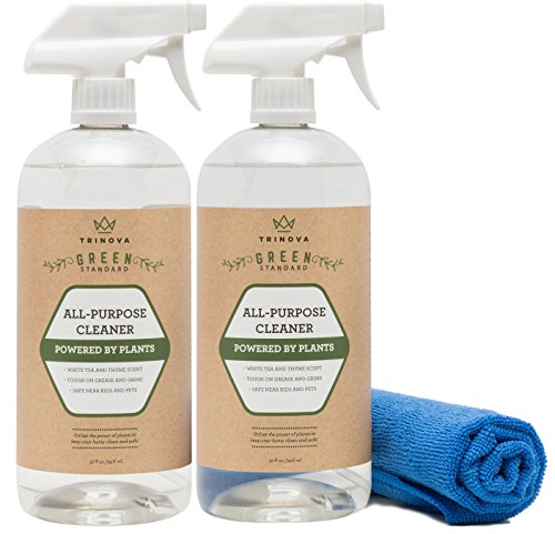 Natural All Purpose Cleaner Organic - Multi Surface Cleaning Spray for Safe Kitchen, Bathroom, Toy, Stain Removal, Counter, Wall. Non Toxic for Kids and Pets. 32oz 2-Pack 64 oz