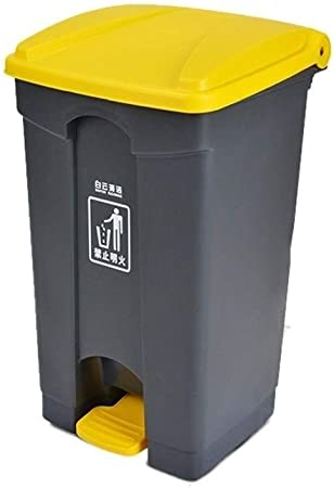 ZWD Cubo de Basura Tipo Pedal, Cubo de Limpieza de jardín de Calle al Aire Libre
